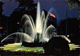 Cartolina Lugano Fontana Notturno Insegna Campari - Cartoline