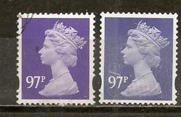Grande-Bretagne Great Britain Machins 2 X 97p Obl - Machins