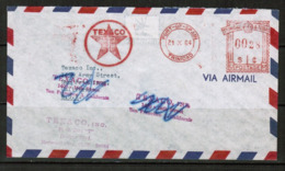 "TRINIDAD & TOBAGO  1964 TEXACO ""METER MAIL"" COMMERCIAL ADVERTISING COVER To CALIFORNIA, USA (OS-512) - Trinidad & Tobago (1962-...)"