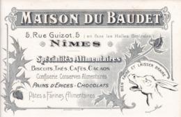 "BUVARD - MAISON DU BAUDET - SPECIALITES ALIMENTAIRES - NIMES - SIGNE ""BENJAMIN RABIER"" - Food"