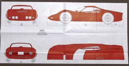 Automobilismo - Prospettti Ferrari Dino Pininfarina - Stampati Su Carta Velina - Livres, BD, Revues