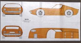 Automobilismo - Prospettti Miura Lamborghini Bertone - Stampati Su Carta Velina - Livres, BD, Revues