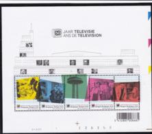 2003, Belgien, 3262/66 Block 91, Fernsehen.  MNH **, - Blocks & Sheetlets 1962-....