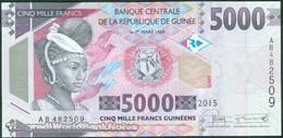 TWN - GUINEA 49 - 5000 5.000 Francs 2015 Prefix AB UNC - Guinee