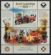 Estonia (2019) - Block -  /  Firefighter - Bomberos - Pompiers - Transportation - Firemen - Trucks - Helicopter - Sapeurs-Pompiers