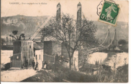 L80b053 - Lagnieu - Le Pont Suspendu Sur Le Rhône - P.Y - Petite Animation - Ohne Zuordnung