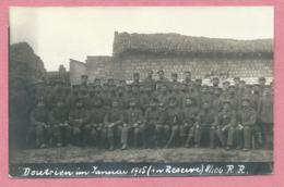 51 - DONTRIEN - Carte Photo Militaire Allemande - Soldats Allemands - Guerre 14/18 - France
