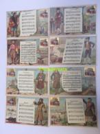 SERIE COMPLETE DE 8 CHROMO CIBILS BOUILLON **  CHANSONS SONGS AMERIQUE LA MARSEILLAISE YANKEE DOODLE RUSSIE ALLEMANDE - Kaufmanns- Und Zigarettenbilder
