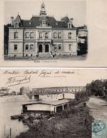 CPA 60 Oise Creil L'Hôtel De Ville Le Grand Pont - Creil