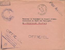 "1968 Cachet "" UNITE MARINE  Fort De France "" - Postmark Collection (Covers)"