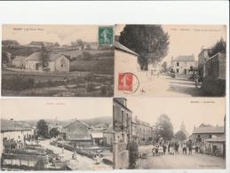 4 CPA:BRASSY (58) MOULIN TALAS,GRAND'RUE,GRANDE RUE,ROUTE DE DUN LES PLACES..ÉCRITES - Autres Communes