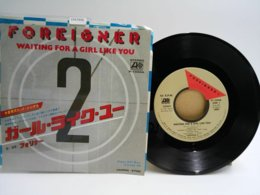 Foreigner 45t Vinyle Waiting For A Girl Like You Japon - Hard Rock & Metal