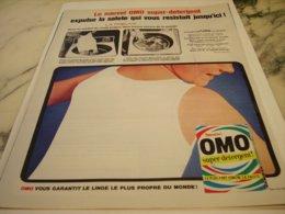 ANCIENNE PUBLICITE SUPER DETERGENT  LESSIVE OMO 1966 - Pubblicitari