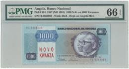 Angola - 1000 Novo Kwanza - PMG 66 EPQ - 11.11.1987 ( ND 1991 ) - Pick 124 - Sign. 15 - Série FL - 1 000 Kwanzas - Angola