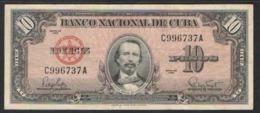 CUBA 10 PESO   1960 - Cuba