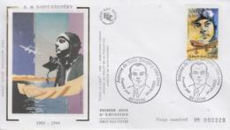 Enveloppe  FDC  1er  Jour  FRANCE   Antoine  DE  SAINT  EXUPERY    LYON   2000 - 2000-2009