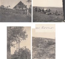 CARTE PHOTO ALLEMANDE - GUERRE 14-18 - KOWNO - KAUNAS - LITUANIE - 4 PHOTOS - War 1914-18