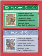SUISSE  PHONE CARD  TAXCARD CARTE TELEPHONIQUE TELECARTE TIMBRES POSTE HELVETIA CONFEDERATION HELVETIQUE HOLOGRAPHIQUE - Suisse