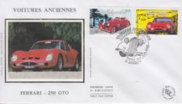 Enveloppe  FDC  1er  Jour  FRANCE  Voitures  Anciennes   FERRARI   ANNECY  2000 - FDC