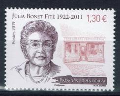 Andorra (French Adm.), Julia Bonet Fité, Andorran Businesswoman, 2019, MNH VF - Unused Stamps