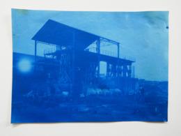 Photographie Papier Fin. Tirage épreuve En Bleu.  ACIERIE  JORDAN  à  DENAIN-ANZIN.  Nord  59 - Photos