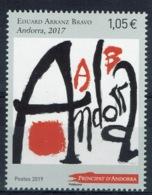 Andorra (French Adm.), Eduard Arranz Bravo, Spanish Painter, 2019, MNH VF - French Andorra