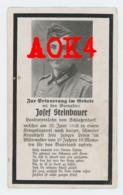 ANTWERPEN Schoonselhof 1943 Sterbebild Doodsprentje Wehrmacht Steinbauer Schlatzendorf Kriegslazarett Lommel - 1939-45
