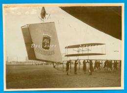 Aviation * Gouvernail Du Dirigeable « Villes De Bruxelles » - Photo De Presse 1910 - Voir Scans - Places