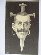 Italien, Karikatur, König Victor Emanuel, Schwert Im Kopf  - Weltkrieg 1914-18