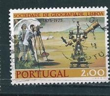 N° 1275 Sté De Géographie De Lisbonne : Théodolite Portugal   Timbre  Oblitéré 1975 - 1910-... République