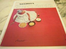 ANCIENNE PUBLICITE BOISSON RHUM  NEGRITA 1966 - Alcohols