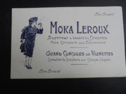 BUVARD - CHICOREES : MOKA LEROUX - PETITE AUREOLE COIN CAUCHE EN BAS - VOIR SCAN - Buvards, Protège-cahiers Illustrés
