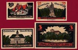 Allemagne 4 Notgeld  Stadt Ballenstedt Im Harz  Dans L 'état N °7 - Collections