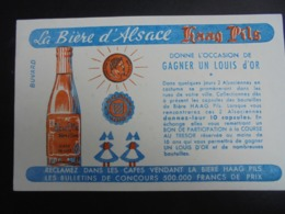 BUVARD - BIERE D'ALSACE : HAAG PILS - Buvards, Protège-cahiers Illustrés