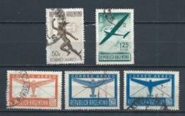 ARGENTINA 1940 (O) USADOS MI-456+457+459+460 YT-PA20+PA21+PA23+PA24 CORREO AEREO - Luftpost
