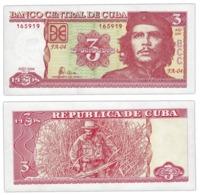 CUBA 3  PESO   2004  UNC - Cuba
