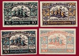 Allemagne 4 Notgeld  Stadt Rindelbrück  Dans L 'état N °11 - Collections