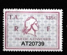 Série 1 Timbres Fiscal Millésime 01  -  1 Timbre Amende - 135 - Revenue Stamps