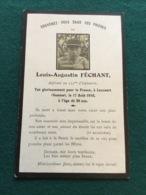 Carte Avis De Décès D'un Aspirant Du 135°RI Tue Dans La Somme - 1914-18
