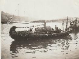 VILLEFRANCHE SUR MER  - Photo - Bataille Navale Fleurie - Premier Prix Des Bateaux à Vapeur - Villefranche-sur-Mer