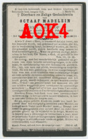 HARELBEKE Octaaf Madelein 1875 1918 Doodsprentje Bombardement RFC RAF Flandern - Images Religieuses