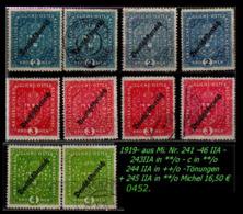 Österreich -  Aus Mi. Nr. 243 - 46 In Postfrisch + Gebraucht - 1850-1918 Imperium