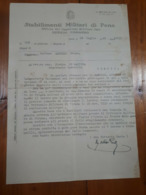 1940 GAETA MILITARIA -STABILIMENTI MILITARI DI PENA- RICHIESTA GRAZIA AMMUTINATO - Documents