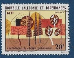 """Nle-Caledonie YT 412 """" Protection Des Arbres """" 1977 Oblitéré - Neukaledonien"""