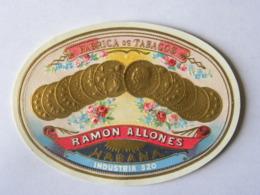 2 étiquettes Fabrication De Tabacos, CUBA, Cigares Cigarettes RAMON ALLONES - HABANA - Tabac (objets Liés)
