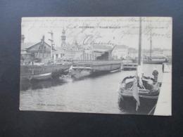 AK 1907 Belgien Ostende - Vieux Bassins Le Bon, Editeur, Ostende Nach Goch Bahnhof - 1905 Thick Beard