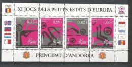 ANDORRE 2005 N° 609 A 612 FEUILLET DE 4 TP NEUFS** - Andorra Francese