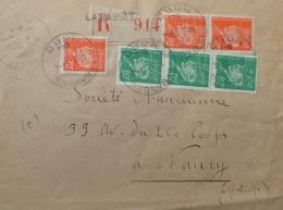 R1949/1071 - TYPE PETAIN - N°511 Et 512 Sur ✉️ RECOMMANDEE De LA BASSEE (Nord) Du 29 AVRIL 1944 - France