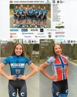 CYCLISME: CYCLISTE : EQUIPE FEMININE HITEC  2019 COMPLETE - Ciclismo