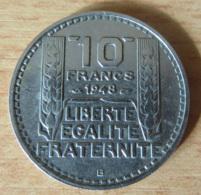 France - Monnaie 10 Francs Turin 1948 B - Variante B Proche Du Listel - TTB - France
